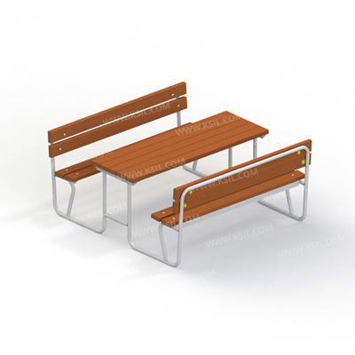 Стол со скамьями без навеса