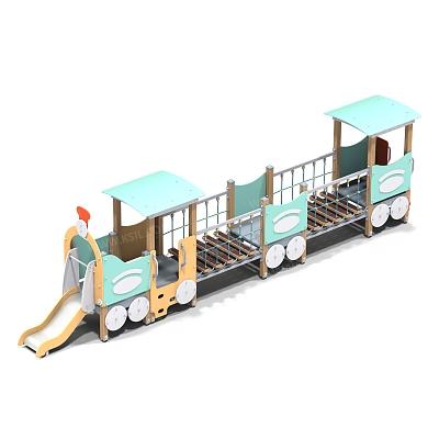 Паровозик с двумя вагончиками