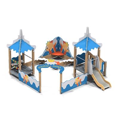 Песочный дворик с горкой «Золотая рыбка»