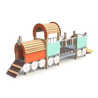 Локомотив с вагончиком