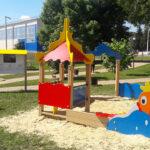 детская песочница дворик золотая рыбка