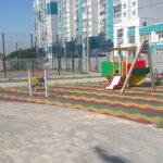 резиновое покрытие для детской площадке на улице чурсина