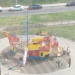 детский игровой комплекс на улице чурсина в воронеже
