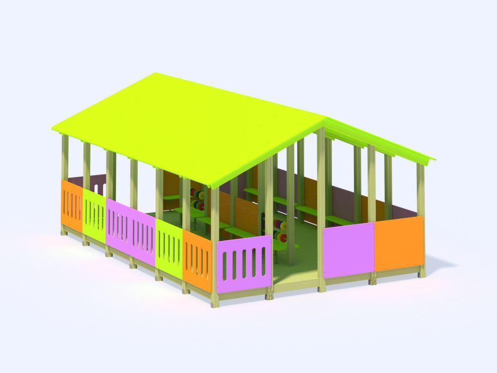 Веранда деревянная (Цветовая схема -с26/8,32)