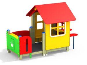 Домик с внешними столиком и скамейкой (Цветовая схема -с26/8,32)