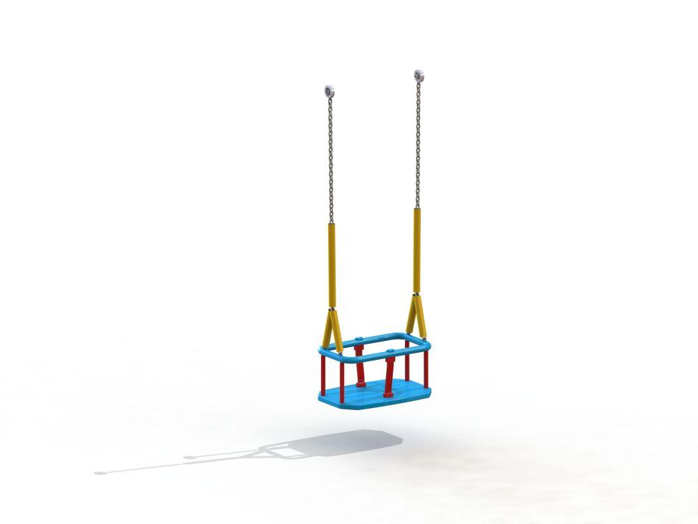 Подвес резиновый на длинной цепи (люлька) с термоусадкой