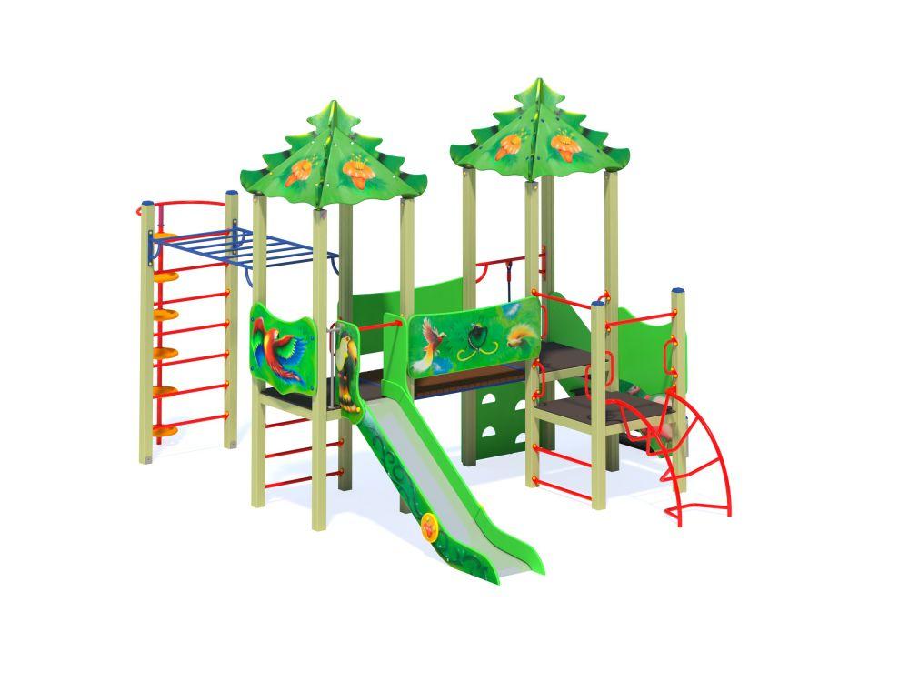 Детский игровой комплекс Н=1200 мм (-Цветвоая схема)