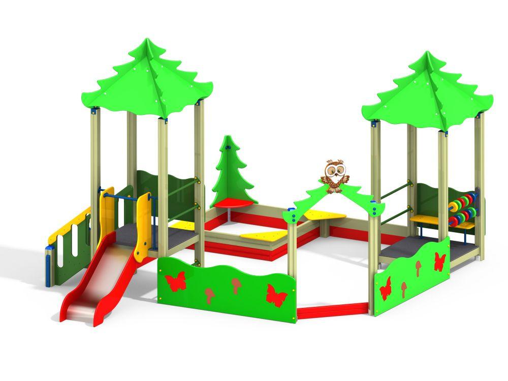Песочный дворик с горкой H=700мм (-Цветовая схема)