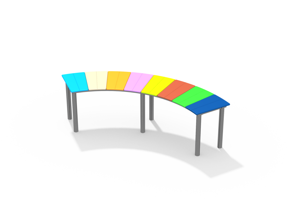 Скамейка полукруг цинк