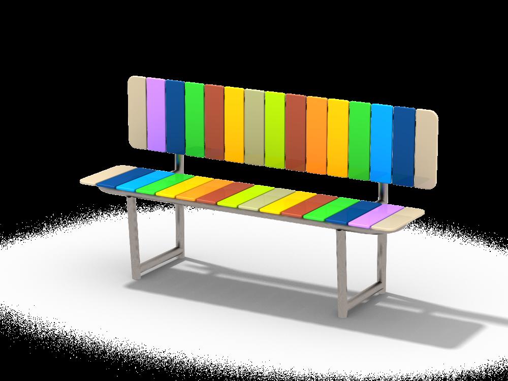 Скамейка со спинкой цинк