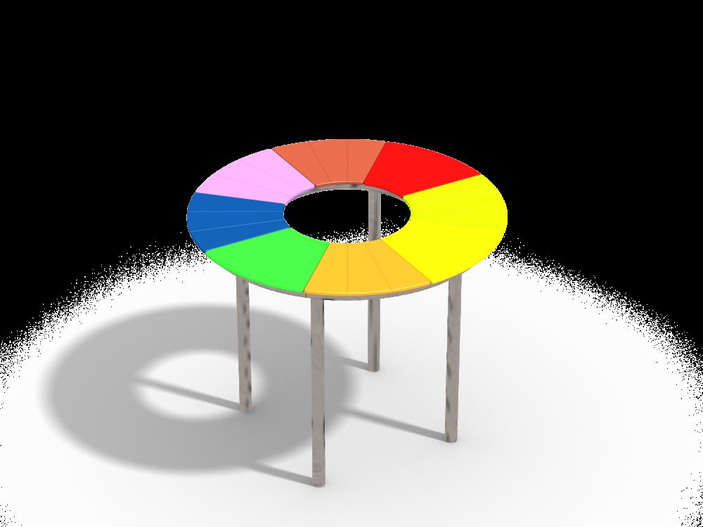 Столик круглый цинк