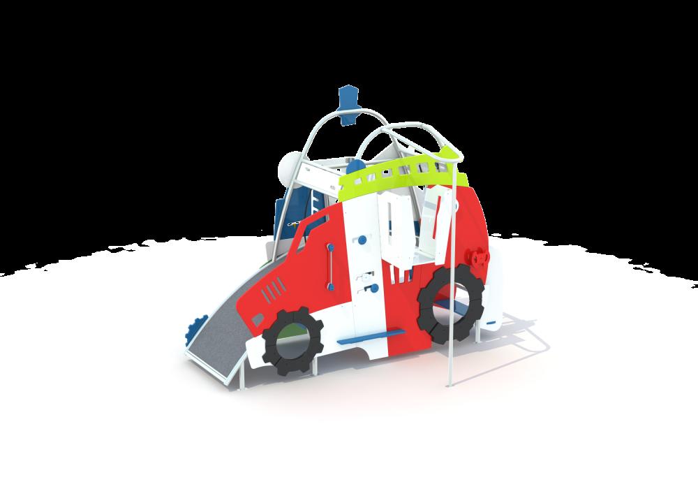 Домик двухсторонний трактор и избушка