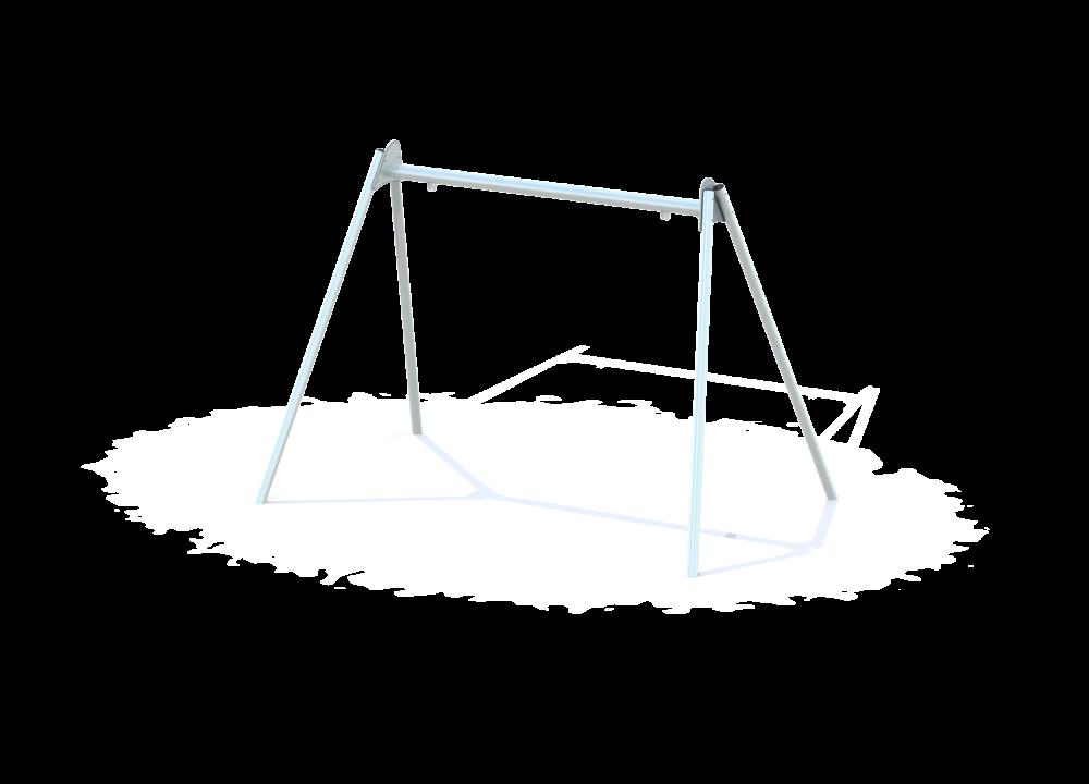 Рама качелей для гнезда на металлических столбах цинк