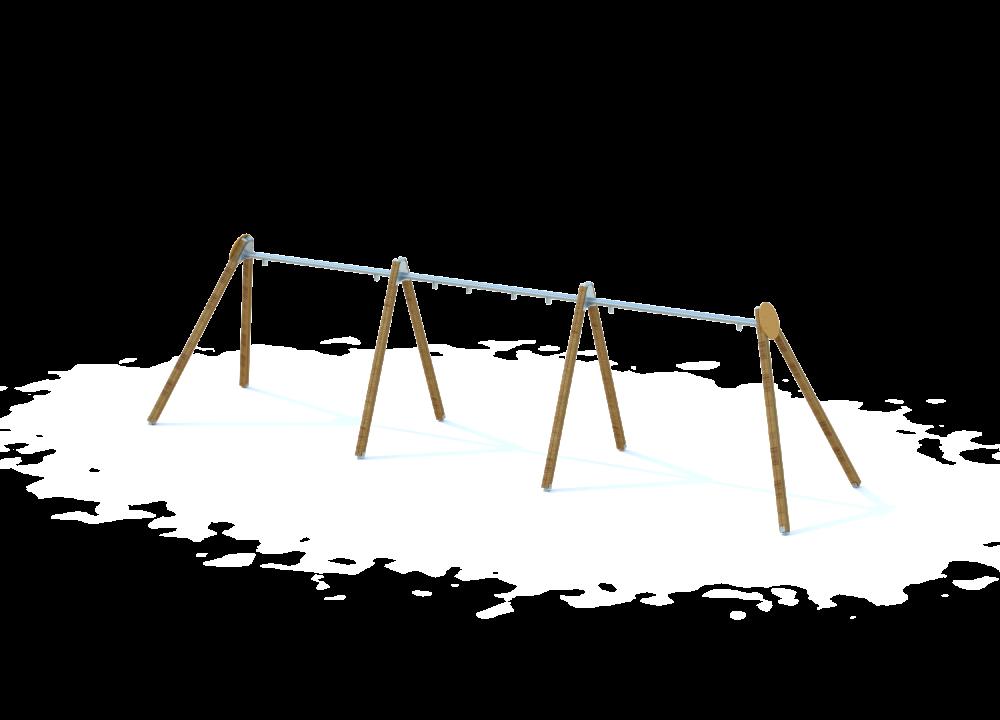 Рама качелей тройная для 2х сидений и 2х подвесов гнездо