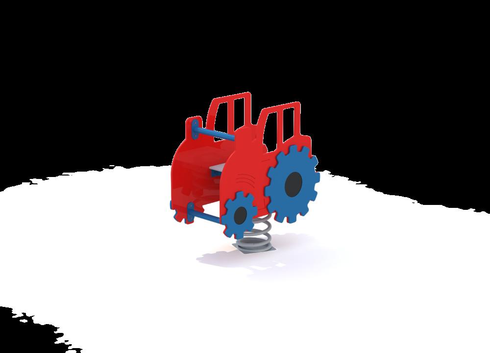 Трактор на пружине цинк