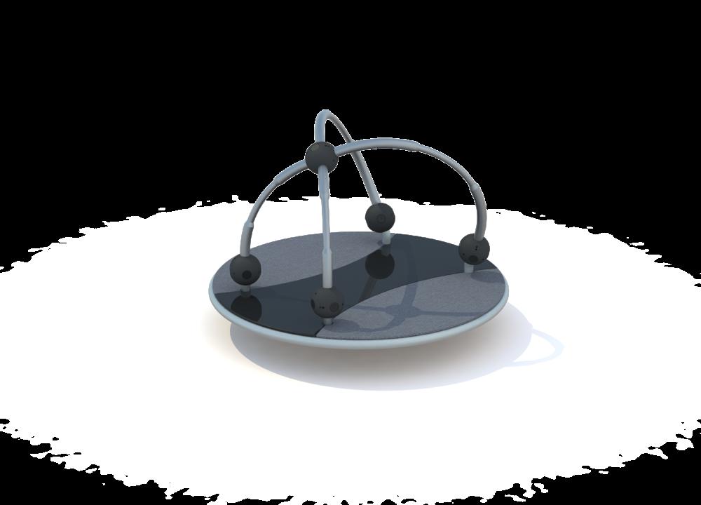 Карусель платформа с шарами нерж