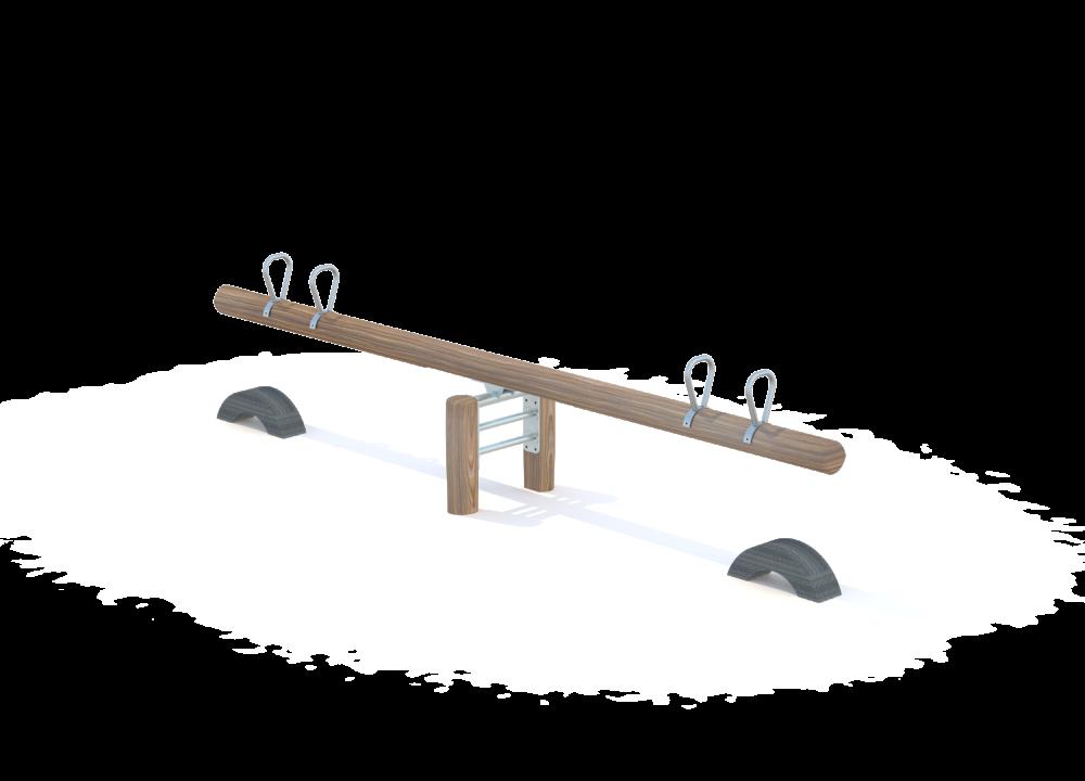 Качалка балансир для четверых на бревне