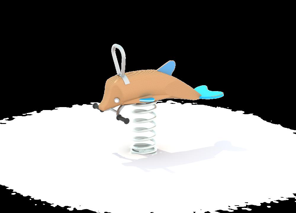 Качалка на пружине Дельфин нерж