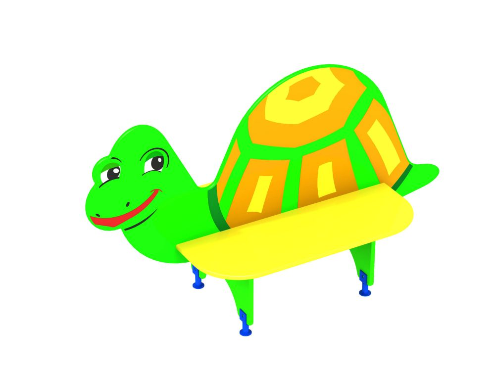 Лавочка со спинкой Черепаха (-Цветовая схема)
