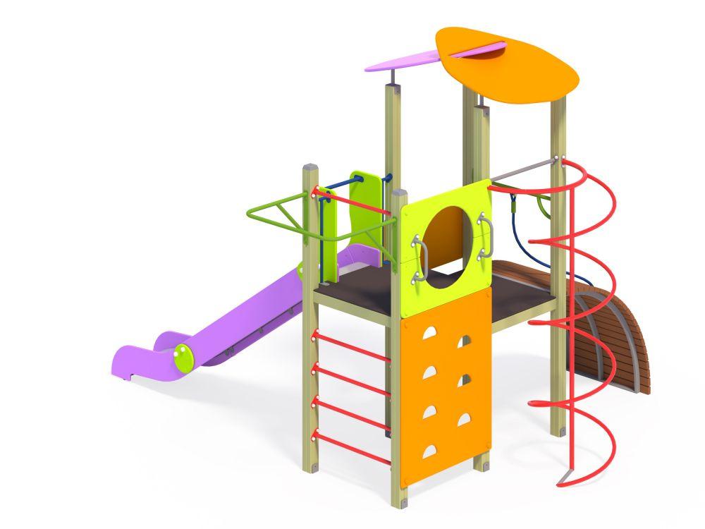 Детский игровой комплекс с горкой H=1500 мм (Цветовая схема -с26/8,32)