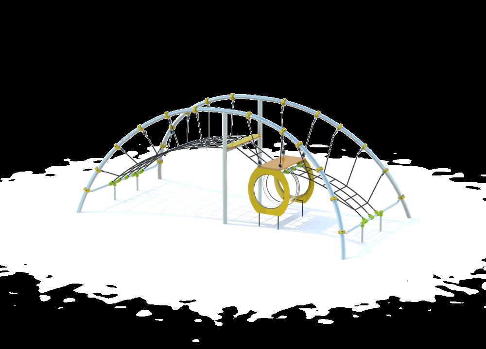 Арка с препятствиями и туннелем цинк