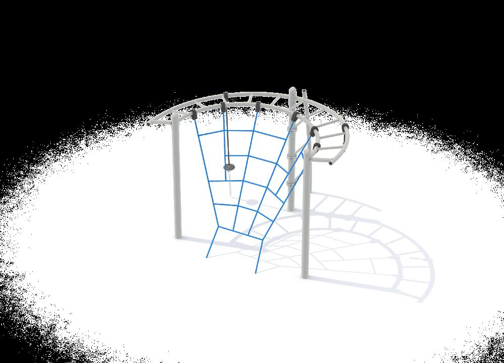 Полукруглый рукоход с сеткой