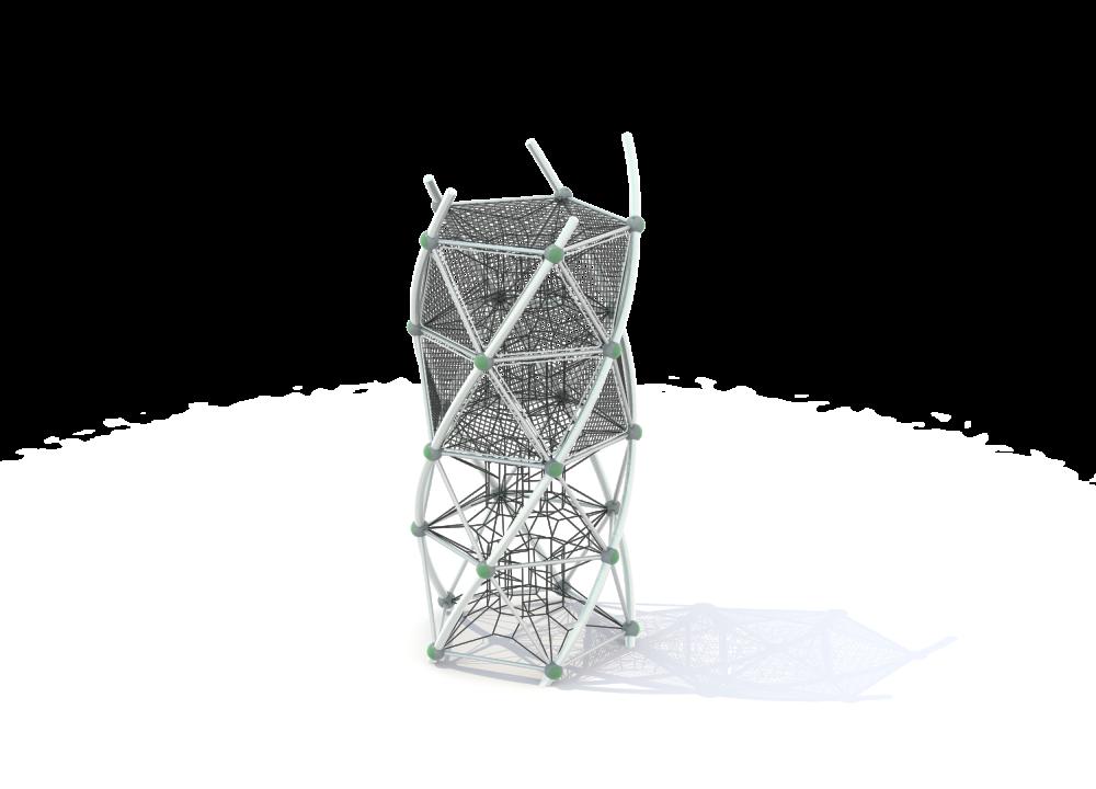 Башня четыре этажа с сетками нерж и пор.окрас