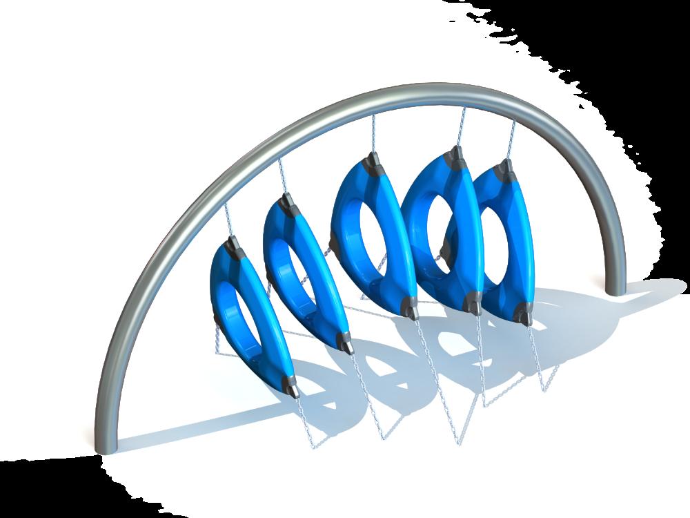 Арка с подвесными треугольными лазами цинк