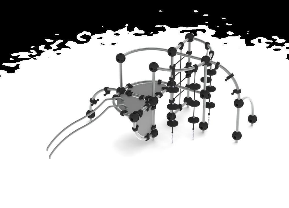Лазалка с площадкой компактная цинк