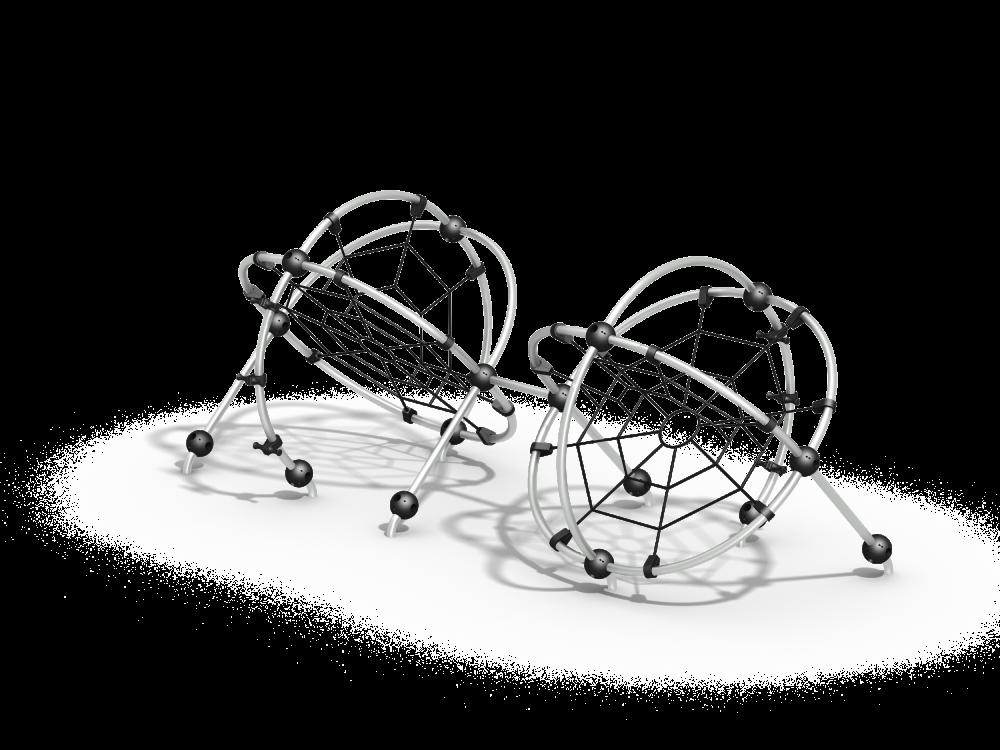 Два шара с сетками цинк