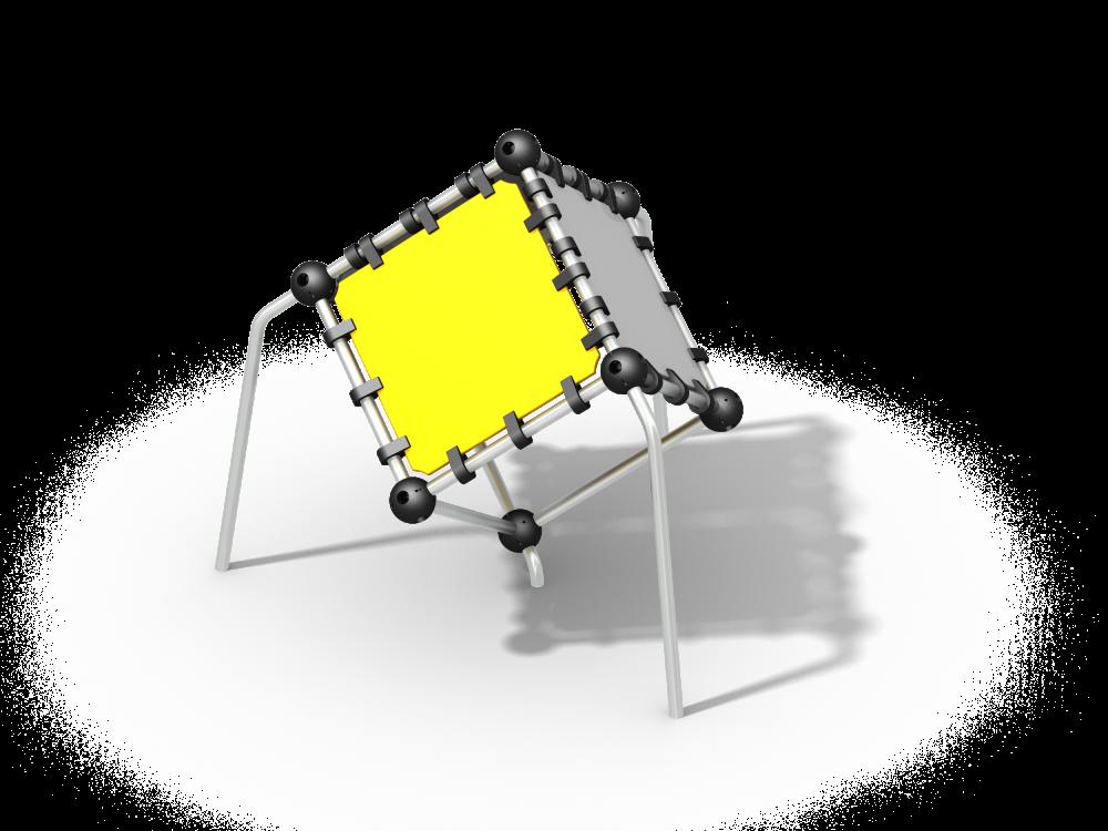 Куб в воздухе цинк