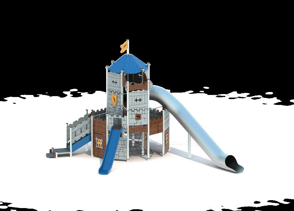 Замок башня с горкой цинк
