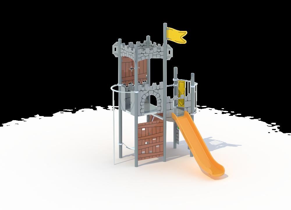 Универсальный комплекс сторожевая башня с горкой цинк