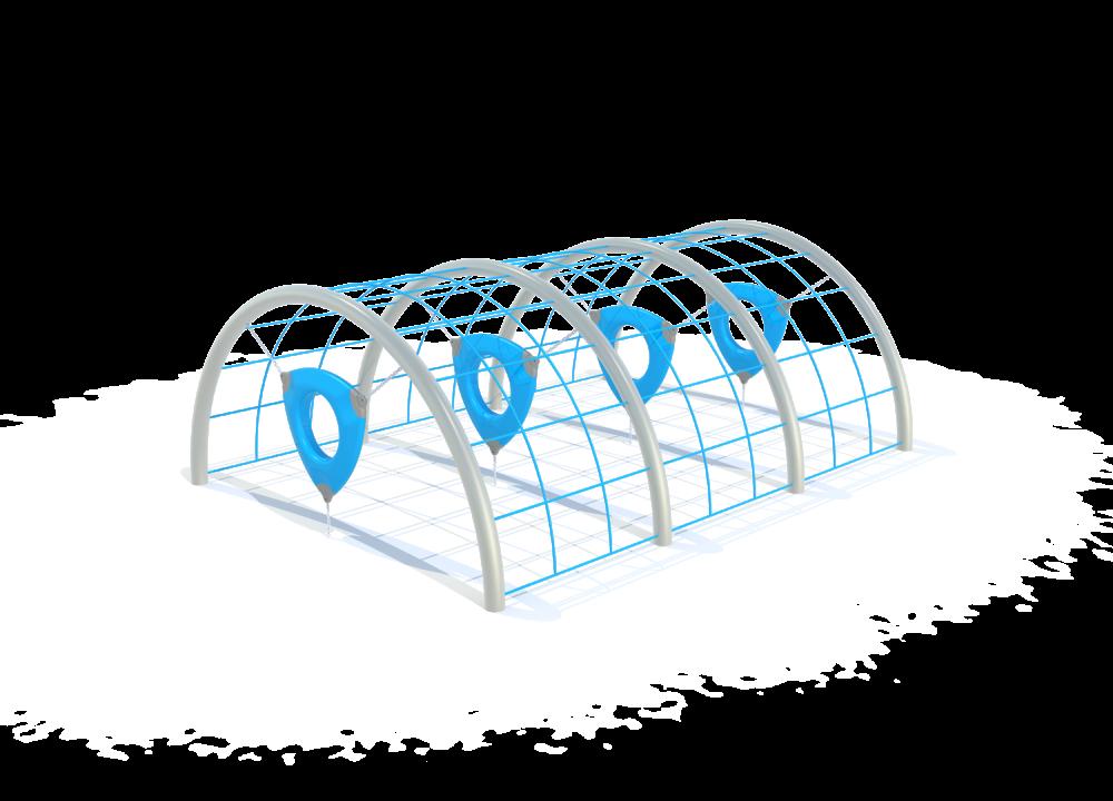 Флекс гимнастический тунель цинк