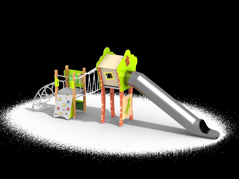 Флекс башня с горкой трубой нерж