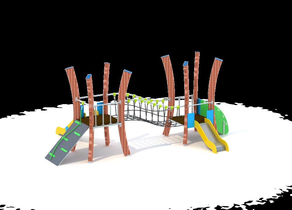 Флекс две башни с горкой и мостиком цинк