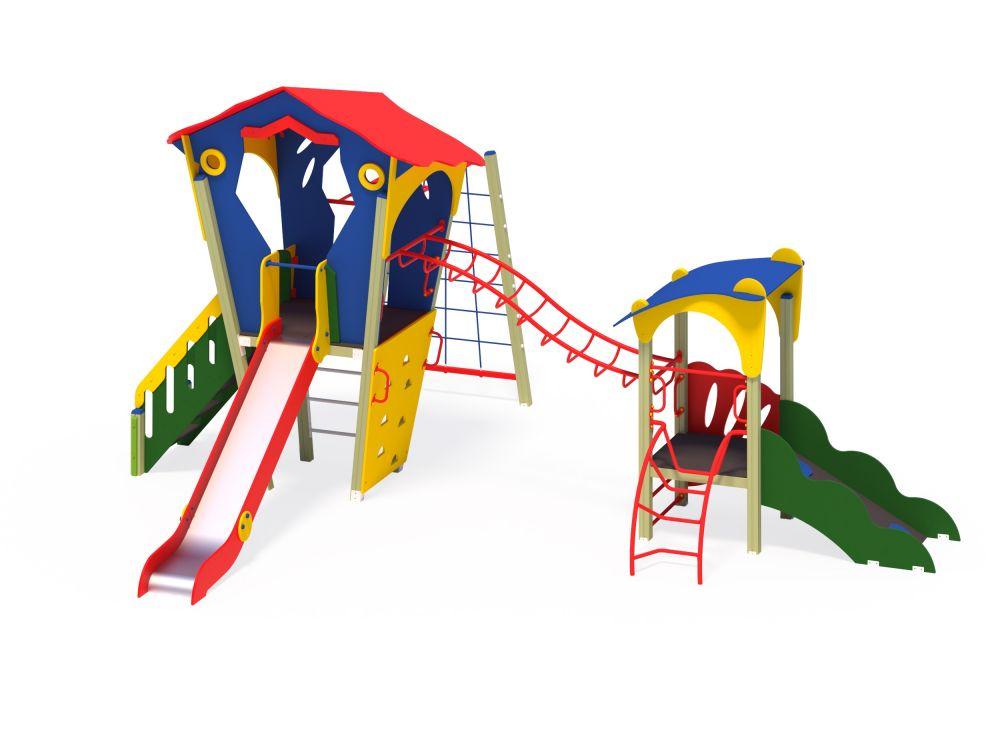 Детский игровой комплекс Н=1500 мм (Цветовая схема -с26/8,32)