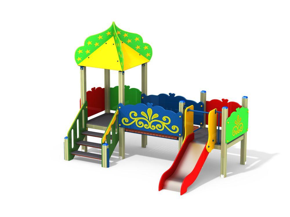 Детский игровой комплекс Н=700 (-Цветвоая схема
