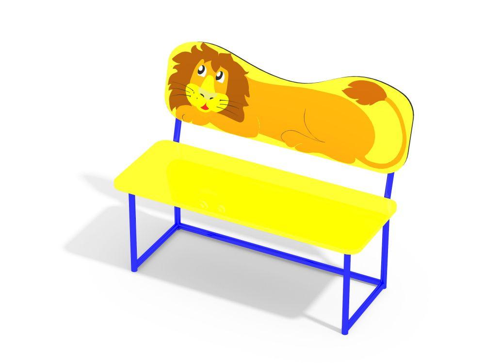 Лавочка со спинкой Львенок (-Цветовая схема)
