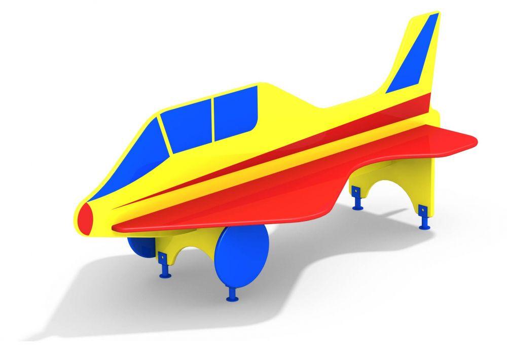 Лавочка со спинкой Самолет (Цветовая схема -с26/8,32)