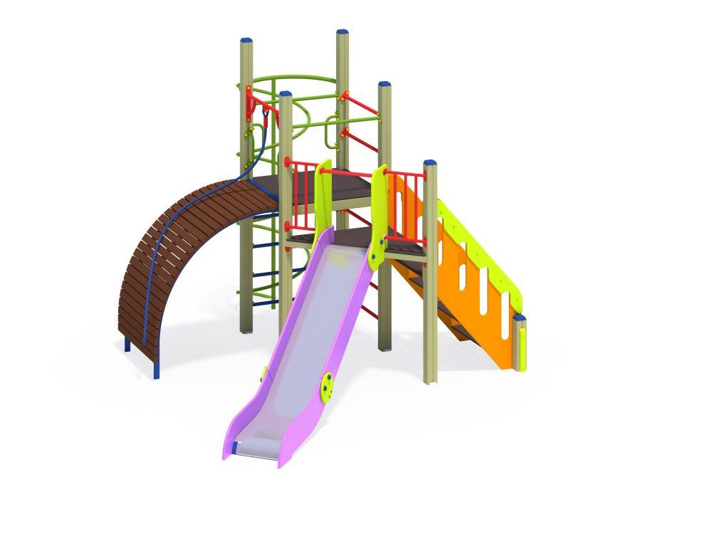 Детский игровой комплекс Н=1200 мм (Цветовая схема -с26/8,32)