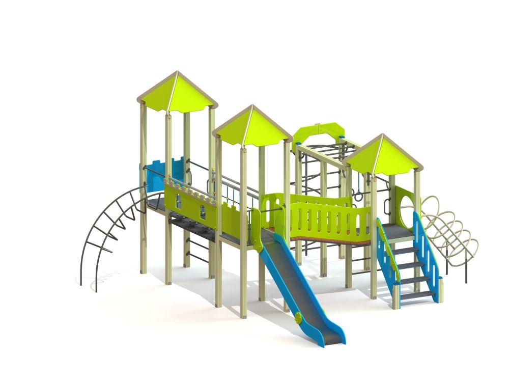 Детский игровой комплекс Н=1500 (-Цветовая схема)