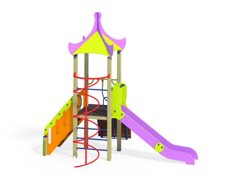 Детский игровой комплекс Н=1200 (Цветовая схема -с26/8,32)