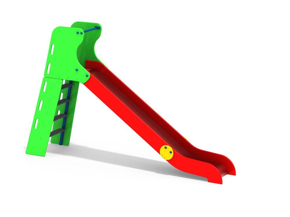 Горка с деревянными перилами H=1500 мм (Цветовая схема -с26/8,32