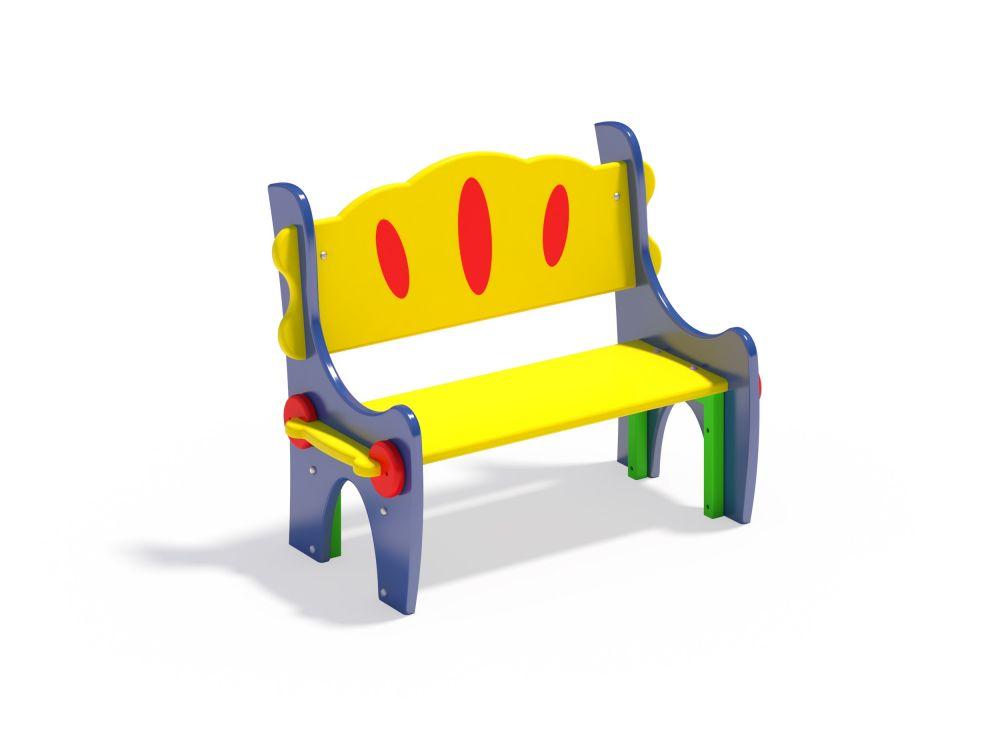 Скамейка со спинкой (Цветовая схема -16)