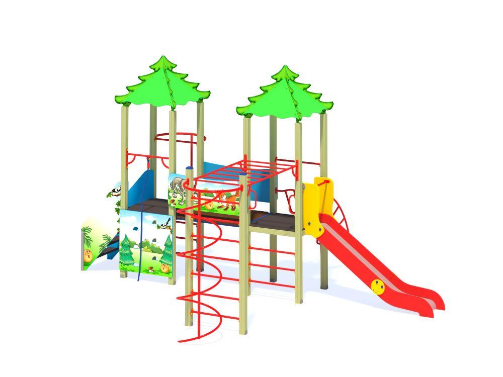 Детский игровой комплекс Н=1200 мм (-Цветовая схема)