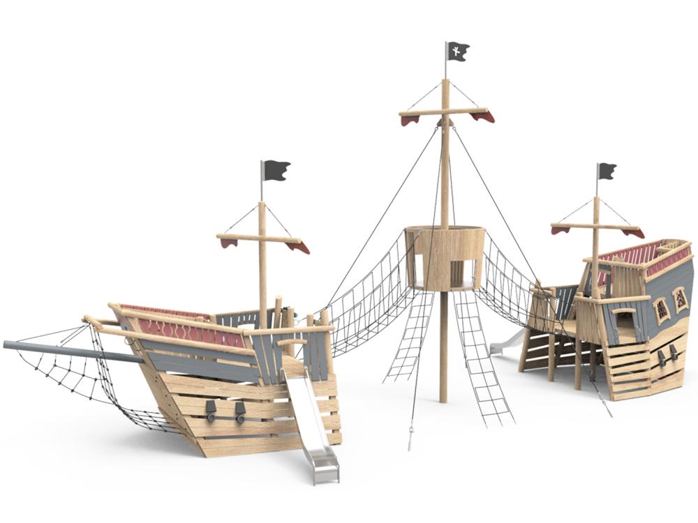 Корабль пиратов супер большой