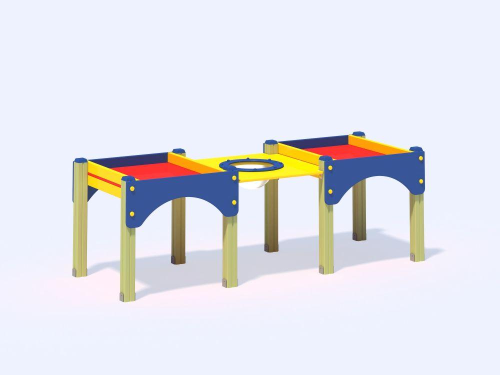 Стол-песочница двойная высокая (Цветовая схема -с26/8,32)