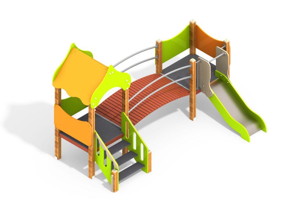 Детский игровой комплекс Н=700 мм (Цветовая схема -с26/8,32)