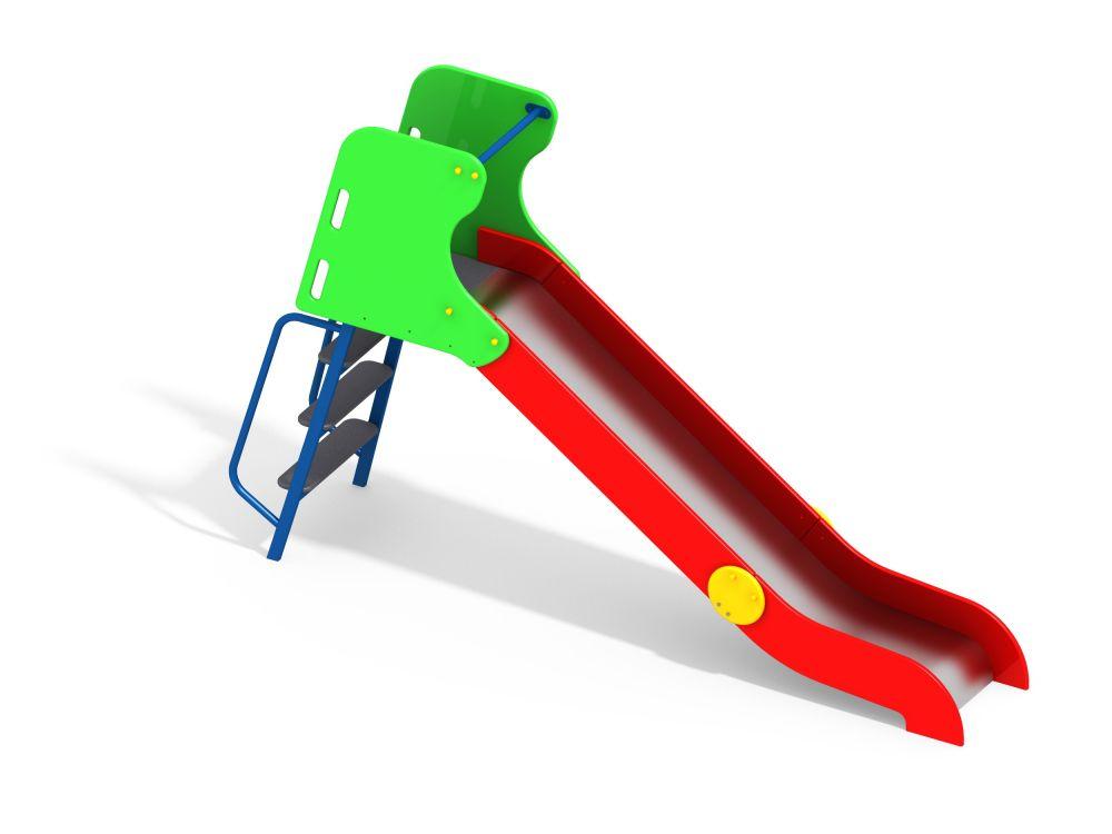 Горка с металлическими перилами H=1200 мм (Цветовая схема -с26/8,32